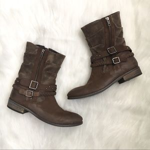 Matisse Outback Brown Leather Slouch Boots